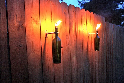 2 outdoor gas light