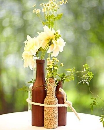 3 rustic flower vase