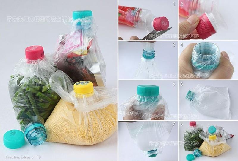 Close A Bag Using Plastic Bottle Cap
