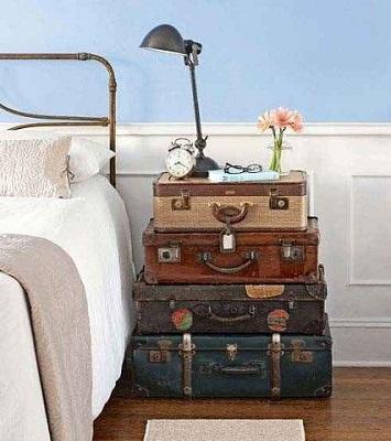 makeshift nightstand