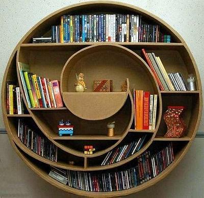 round bookshelf