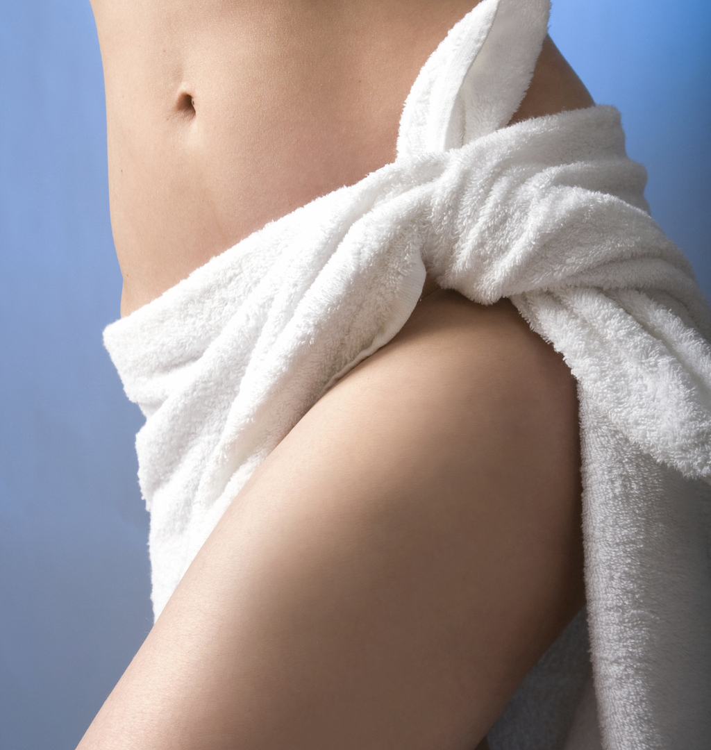 body in towel