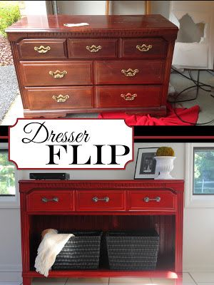 1 Dresser into TV Stand