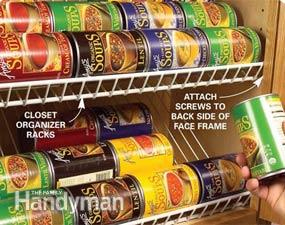 2. Closet Rack Kitchen Cabinet Organizer