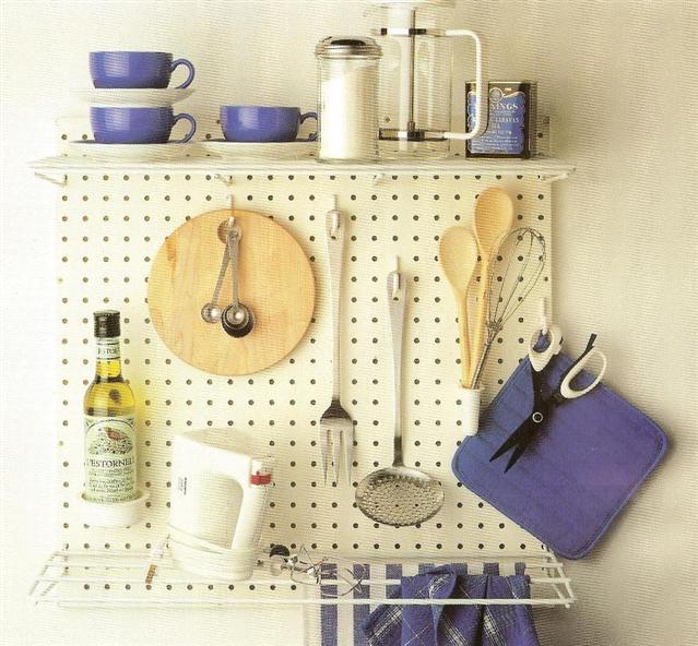 6. Pegboard Organizer and Storage