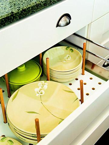 7. Pegboard Dish Drawer