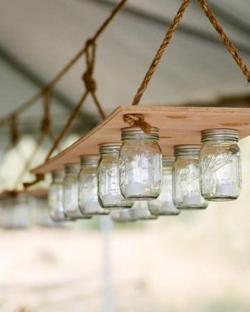 1. Mason Jar Hanging Lights
