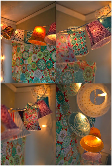 5. Plastic Cup String Lights