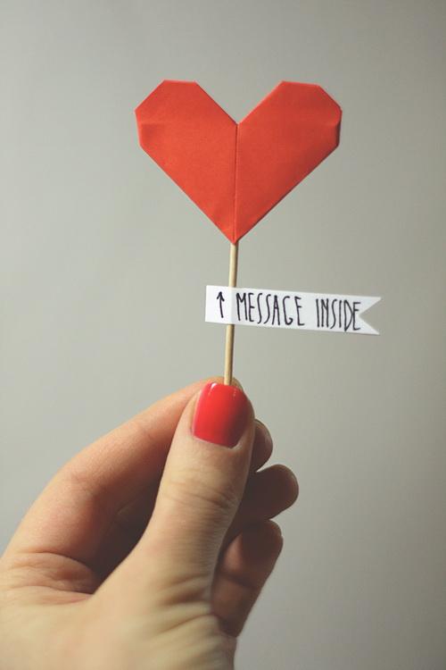 Paper heart in hand 1