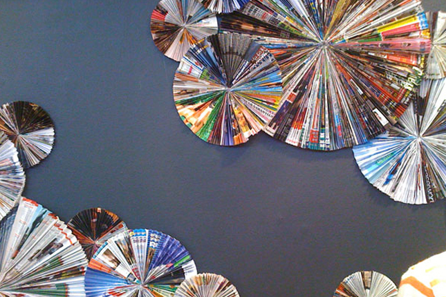 4 pinwheel wall decor