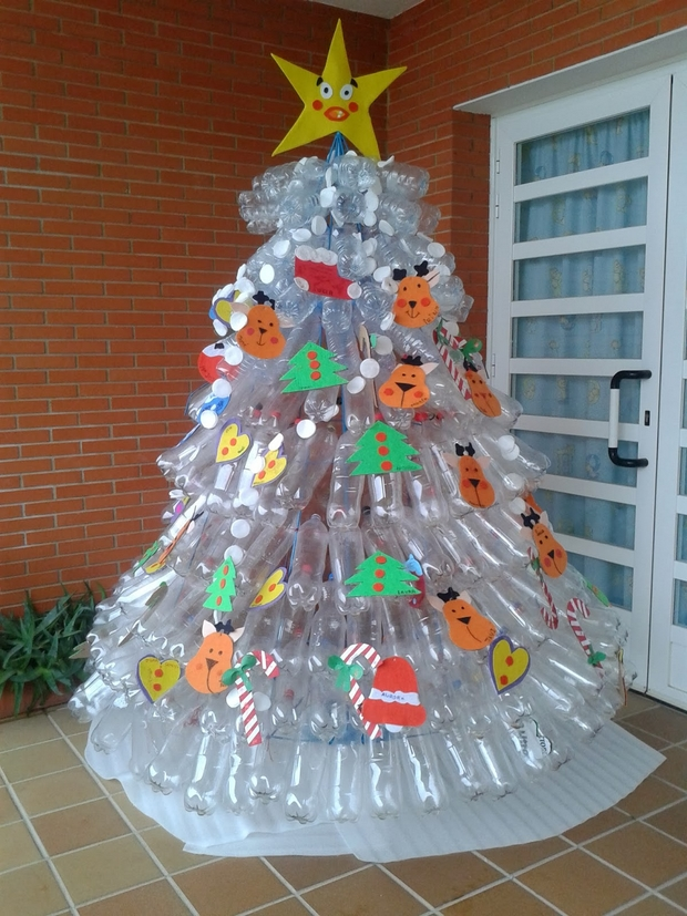 recycled christmas decorations using plastic bottles On recycled christmas decorations using plastic bottles